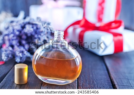 Perfume bottle - stock photo