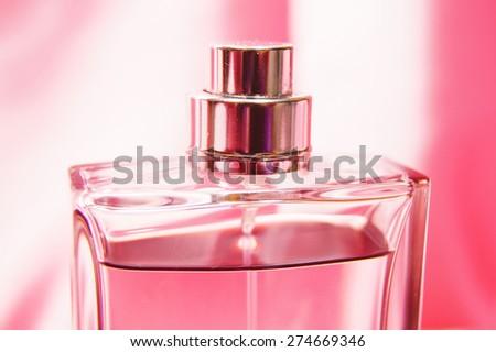 perfume bottle  - stock photo