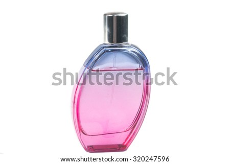 Perfume bottle isolate on white - stock photo