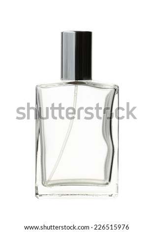 Perfume bottle (with clipping path) isolated on white background