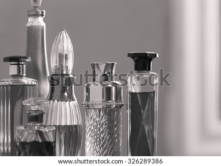 Perfume collection.