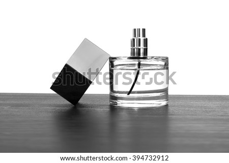 Perfume in black and white back ground