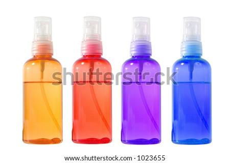 perfumed body oil - stock photo
