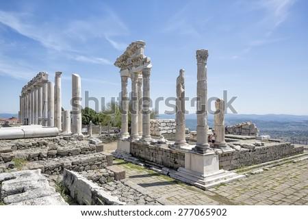 Pergamum Acropolis - stock photo
