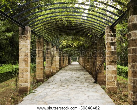 Pergola in Athens, Greece - stock photo
