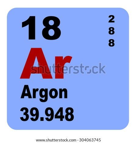 Periodic Table Elements No 18 Argon Stock Illustration 304063745