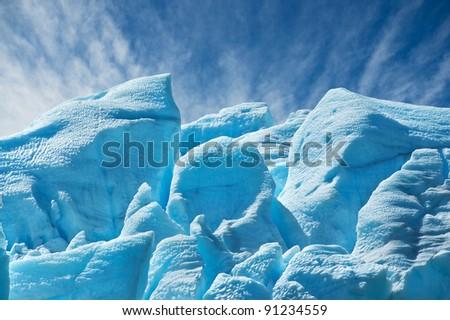 Perito Moreno glacier, El Calafate, patagonia, Argentina. - stock photo