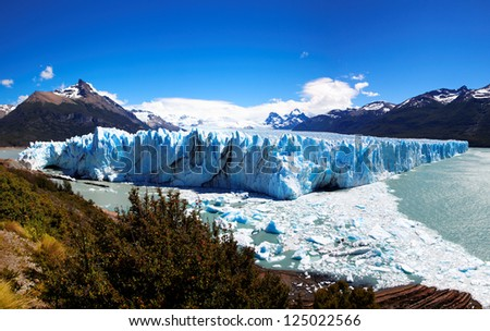 Perito Moreno Glacier, El Calafate, Patagonia, Argentina. South America - stock photo