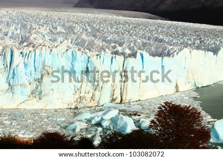 Perito Moreno glacier, Patagonia, Argentina. - stock photo