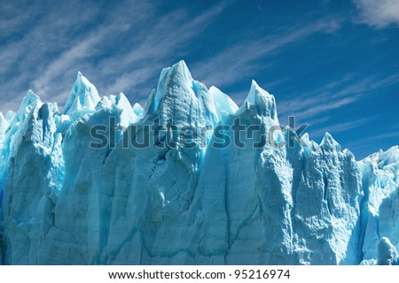 Perito Moreno glacier, patagonia, Argentina. Copy space. - stock photo