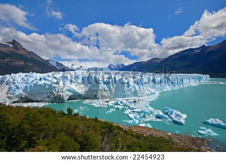 perito moreno national park - stock photo