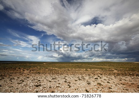Peron Peninsula, Shark Bay. Weather can be very wild and unpredictable here. - stock photo