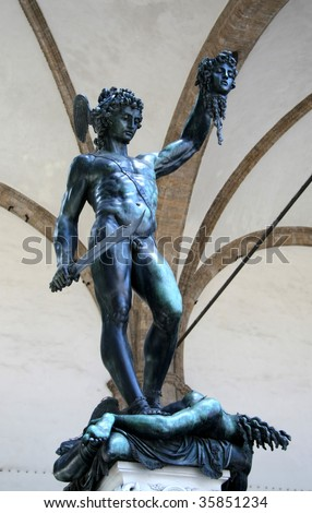 Perseus statue from Michelangelo - stock photo