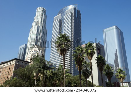 Pershing Square in Los Angeles - stock photo