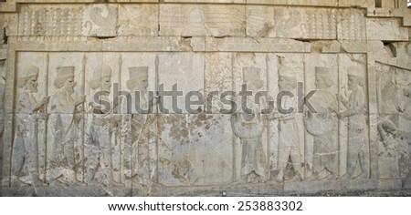 Persian relief - stock photo
