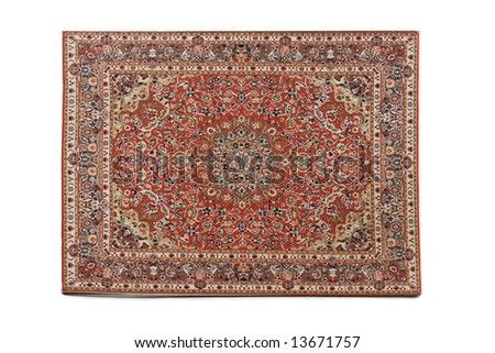 Persian Rug isolated on white background - stock photo