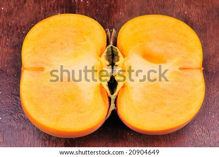 persimmon fruit - stock photo