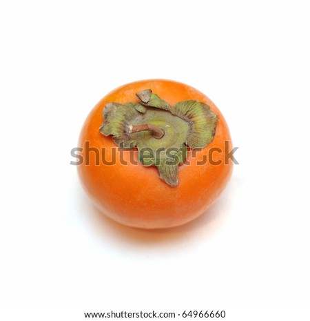 Persimmon top view - stock photo