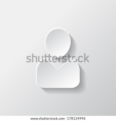 Person icon. - stock photo
