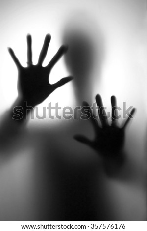 Person in fear - stock photo