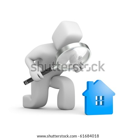 Person searching a new house - stock photo