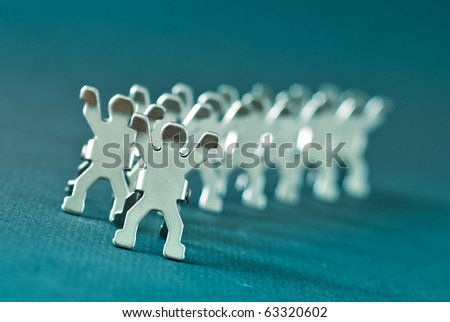 Person Shaped Tag Holder Clips in Blue Filter