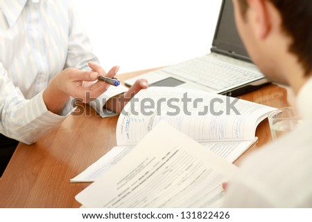 Person signing important document - stock photo
