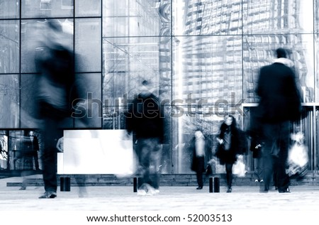 person walking on the street - stock photo