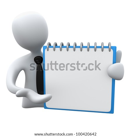 Person with Notepad - stock photo