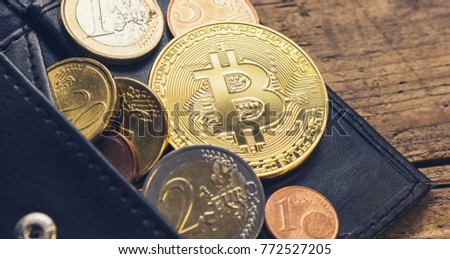 Personal bitcoin wallet euro coins stock photo 772527205 personal bitcoin wallet with euro coins ccuart Choice Image