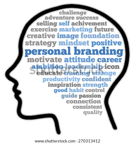 Personal branding in word cloud concept - stock photo