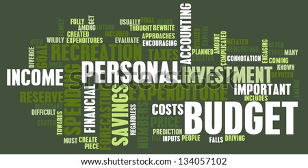 Personal Budget and Spending Finances as Concept - stock photo