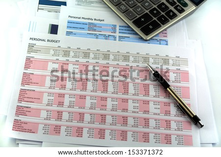 Personal Budget report - stock photo