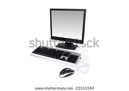 Personal computer isolated on the white background