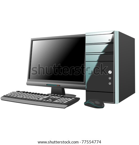 personal computer isolated on white background