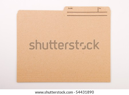 Personal File - stock photo