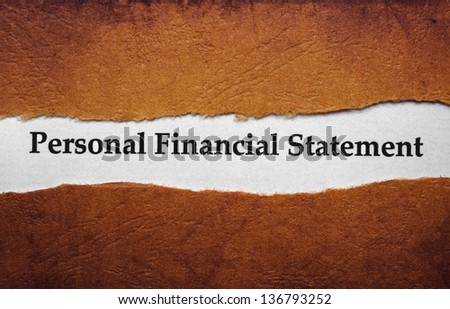 Personal financial statement - stock photo