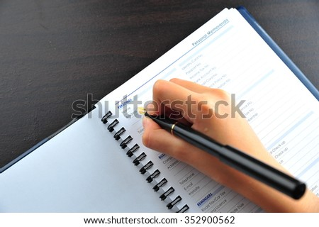 Personal information to be fill in - many uses for business - stock photo