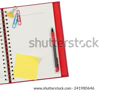 Personal Organizer with Post it - stock photo