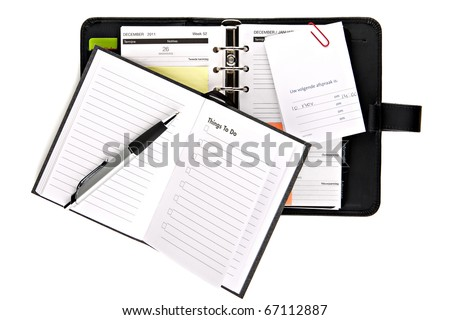 Personal organizer with things to do list (concept) - stock photo