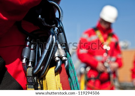 Personal safety level rescuers - stock photo