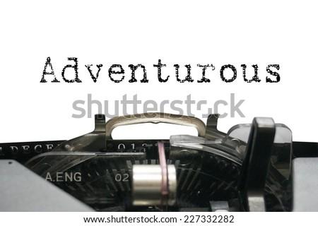 Personality characteristic - Adventurous - stock photo