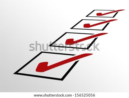 Perspective Checklist - stock photo