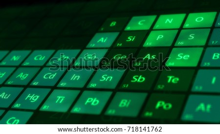 Perspective closeup periodic table elements on stock illustration perspective closeup of the periodic table of the elements on a dark background macro shot urtaz Image collections