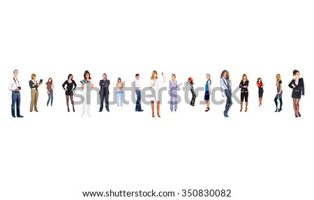 Perspective Concept Isolated Groups  - stock photo