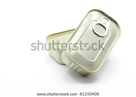 perspective Isolated of Aluminum metal tin can on white background