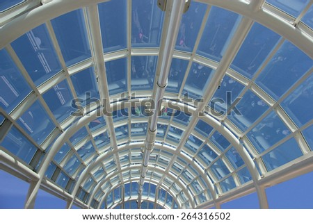 Perspective of Beautiful Crystal Clear Roof
