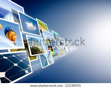 perspective of images streaming from the deep - stock photo