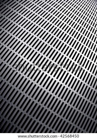 perspective of metal background - stock photo