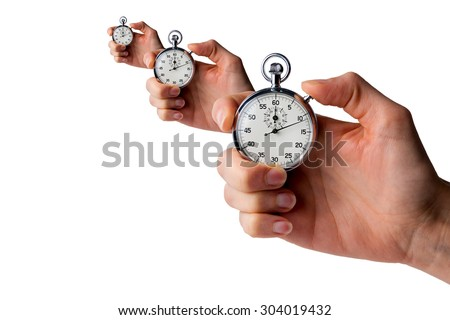 perspective of 3 stopwatches
